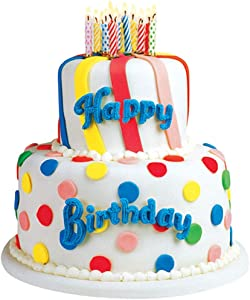 """Paper House Productions 3.5"""" x 3"""" Die-Cut Birthday Cake Shaped Magnet for Refrigerators and Lockers"""