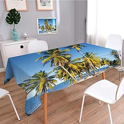 Mantel Shabby Chic, diseño de palmas de playa de arena tropical en ...