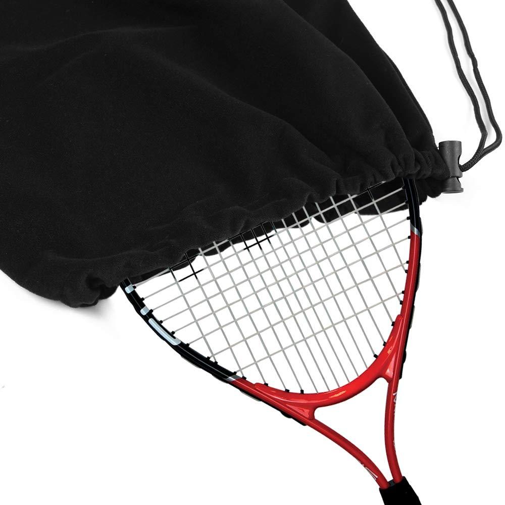 Lixada Tennis Racquet Cover Bag Soft Fleece Storage Bag Case for Tennis Racket