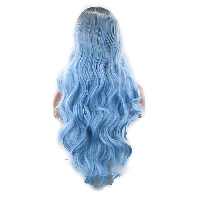 2 opinioni per Frcolor Parrucca lunga ricci parrucca Lolita Anime Cosplay parrucche nero blu