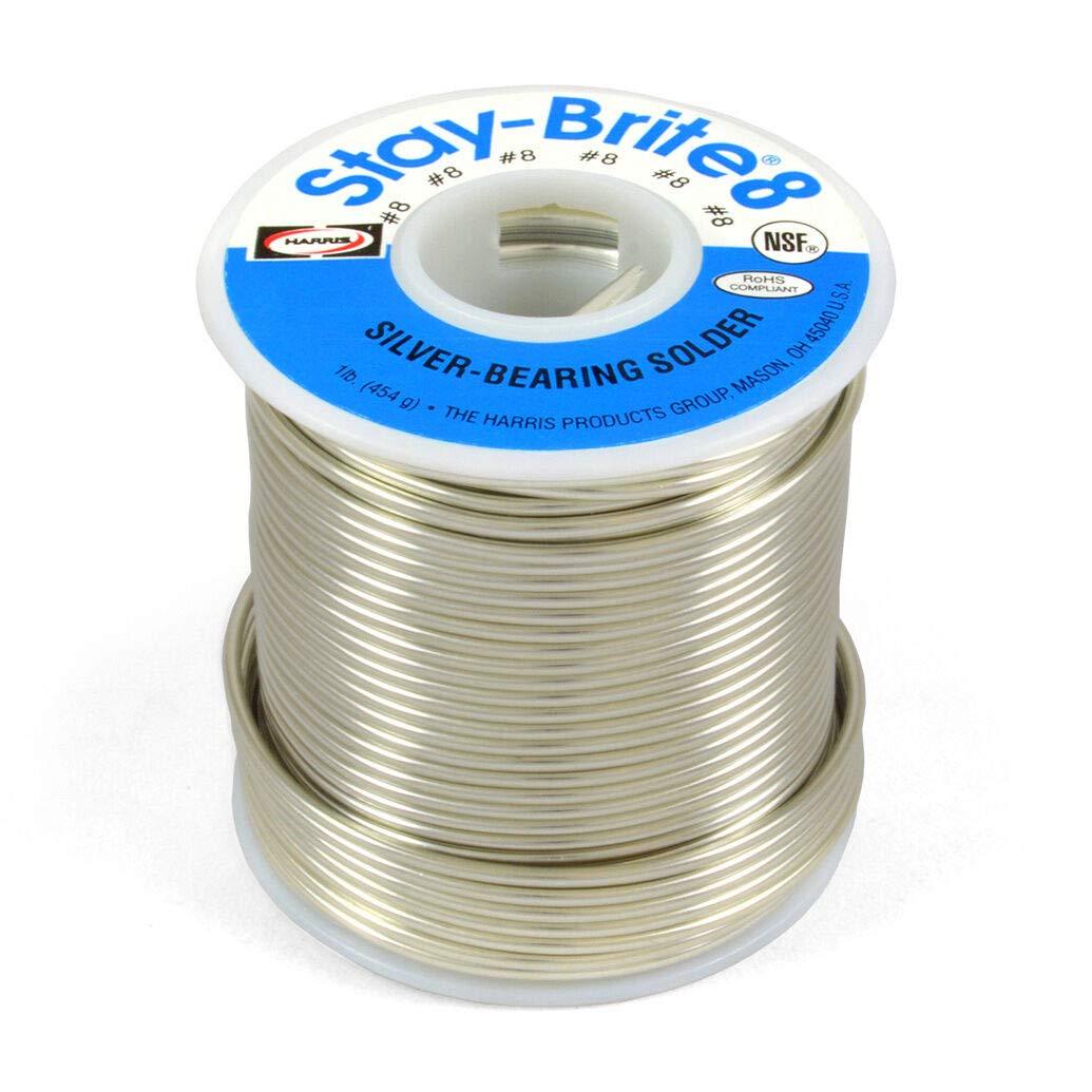 Harris Stay-Brite #8 Silver Bearing Solder 1/16'' 1 lb Pound Spool, SB831
