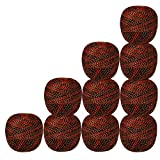 Set of 10 Pcs Gold Brown & Red with Metallic Golden Crochet Thread Cross Stitch Knitting Tatting Doilies Yarn