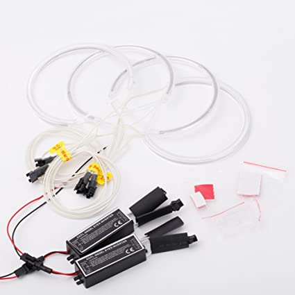 KKmoon - Juego de 4 luces reflectoras LED de 131 mm + 146 mm CCFL ...
