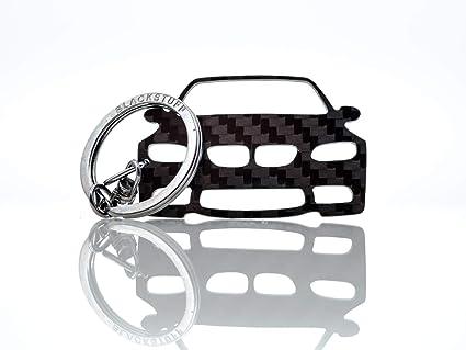 BlackStuff Llavero De Fibra De Carbono Cadena De Claves Compatible con M3 E90 E91 E92 E93