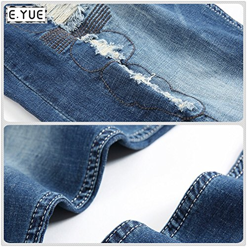 E.YUE Jeans-Herren Slim Fit Basic Style Stretch-Denim Jeans-Hose#091
