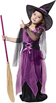 JT-Amigo Disfraz de Bruja para Niña, 6-7 años: Amazon.es ...