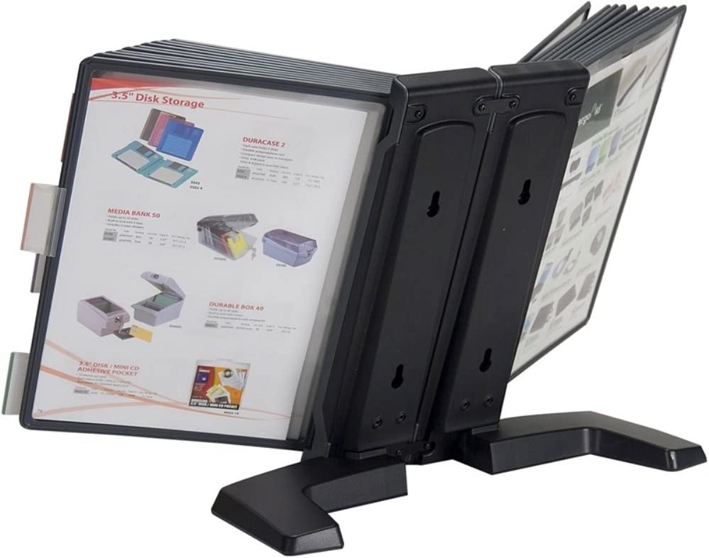 Aidata FDS005L-20 Desktop Reference Organizer, Includes 20 Display Panels, Displays up To 40 Pages