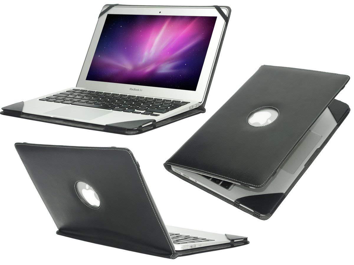 Navitech ブラックプレミアム高級高級本革ケースカバースリーブ ASUS 13.3 インチ UX360 Zenbook Flip 360度タッチスクリーンノートブックに対応   B07JGM48CQ