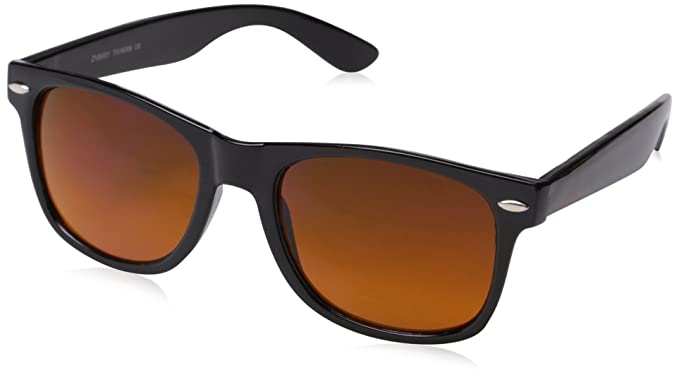 1e01bdf263c29 Amazon.com  Blue Blocking Driving Wayfarers Sunglasses Amber Tinted ...