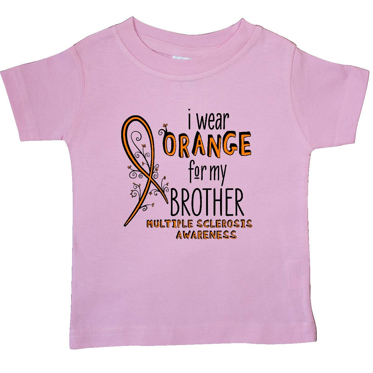Multiple Sclerosis Baby T-Shirt inktastic I Wear Orange for My Brother
