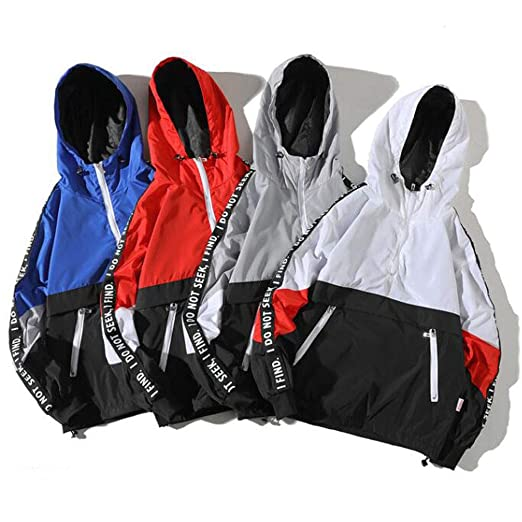 Amazon.com: Mens Sweatshirt Patchwork Loose Long Sleeve Hooded Casual Cardigan Coat Tops with Pockets: Clothing