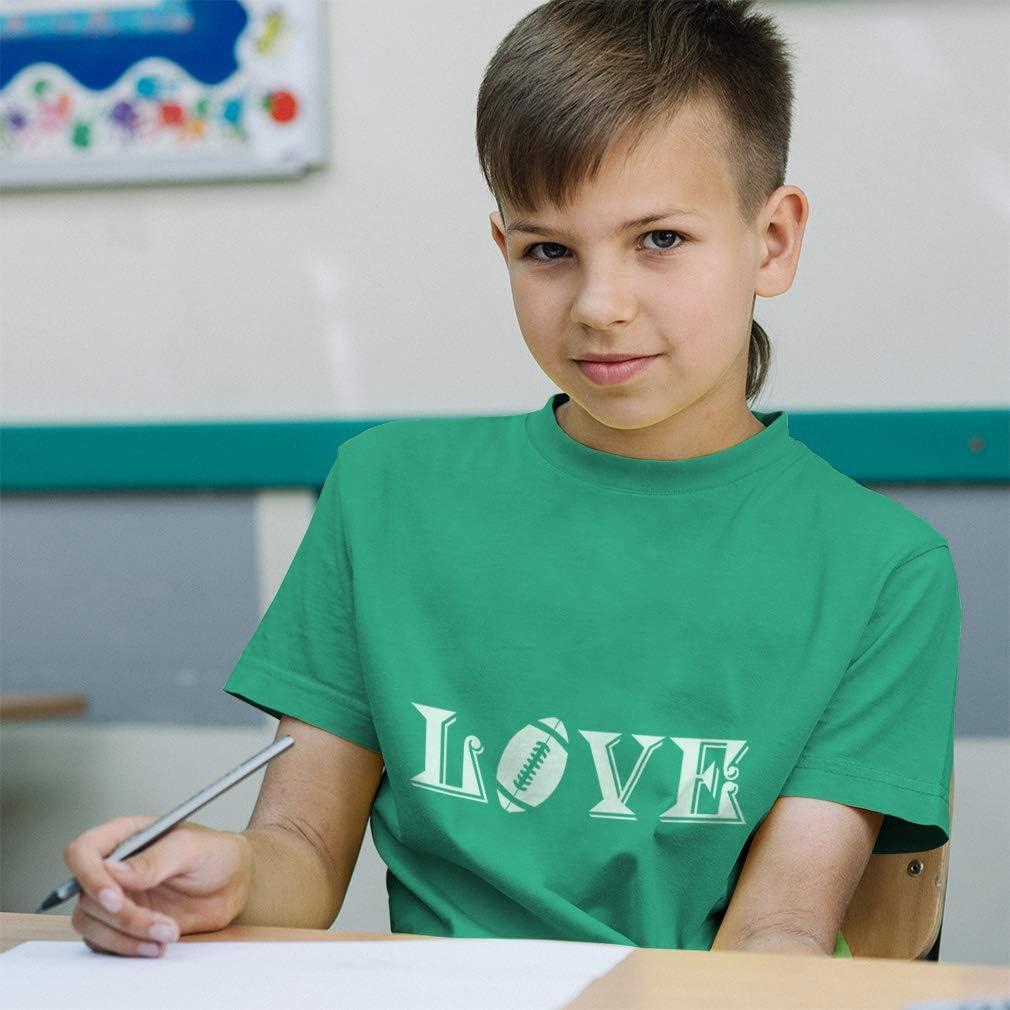 Custom Toddler T-Shirt Love Football Style A Cotton Boy /& Girl Clothes