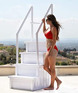 32 Inch Safety Step Above Ground Swimming Pool Ladder /W Handle Slip Prevent