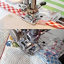 Kangkang@ Adjustable Bias Tape Binding Presser Foot Feet for Domestic Sewing Machines Sewing Quilting Hemming Tools Accessories