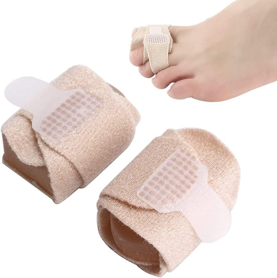 Tirantes de hallux valgus, 2pcs hallux valgus toe corrector ortopédico corrector juanete para aliviar el dolor cinta para aliviar el dolor hallux valgus martillo dedos de los pies cuidado avanzado de