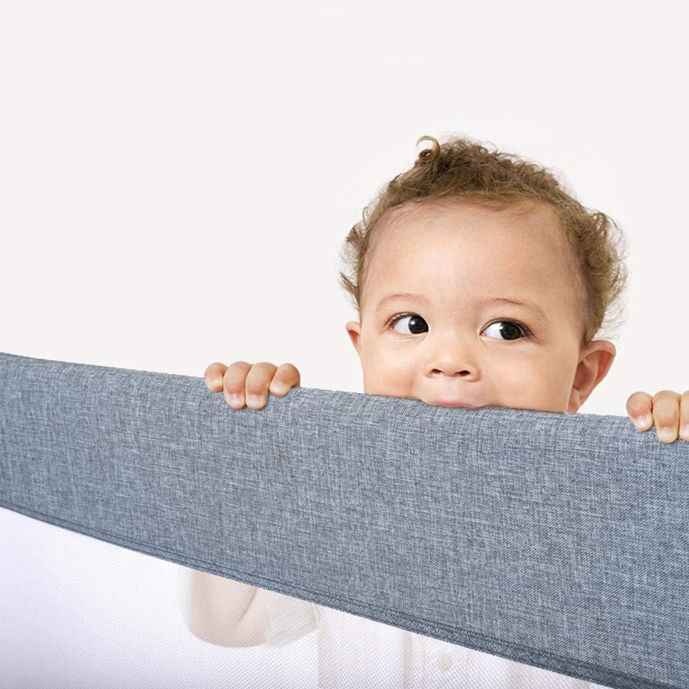 Farbe : Blau, gr/ö/ße : 200+180+200cm tragbare Klappbettgitter Einzelbettgitter Sicherheitsschutzgitter f/ür Kleinkind Baby und Kinder Bettgitter f/ür Baby