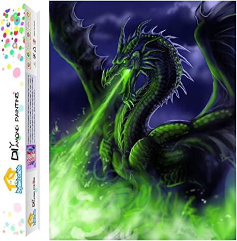 Cross Stitch Kit 5D Color Dragon Full Drill  Diamond Painting Embroidery Decor