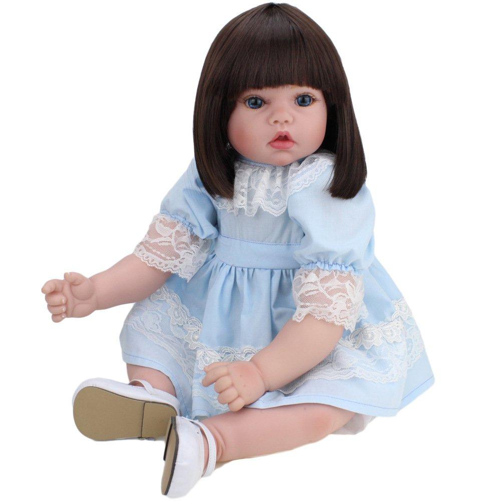 上品なスタイル QXMEI 女の子 20インチ リボーンベビードール リアルなハンドメイド 本物そっくり キッズ 子供 シリコンビニール製 女の子 赤ちゃん人形 50 cm 本物そっくり キッズ おもちゃ 子供 誕生日ギフト ピンク プリンセスドレス B07GLBY4Y7, MUK ONLINE SHOP:a25e8f63 --- pmod.ru