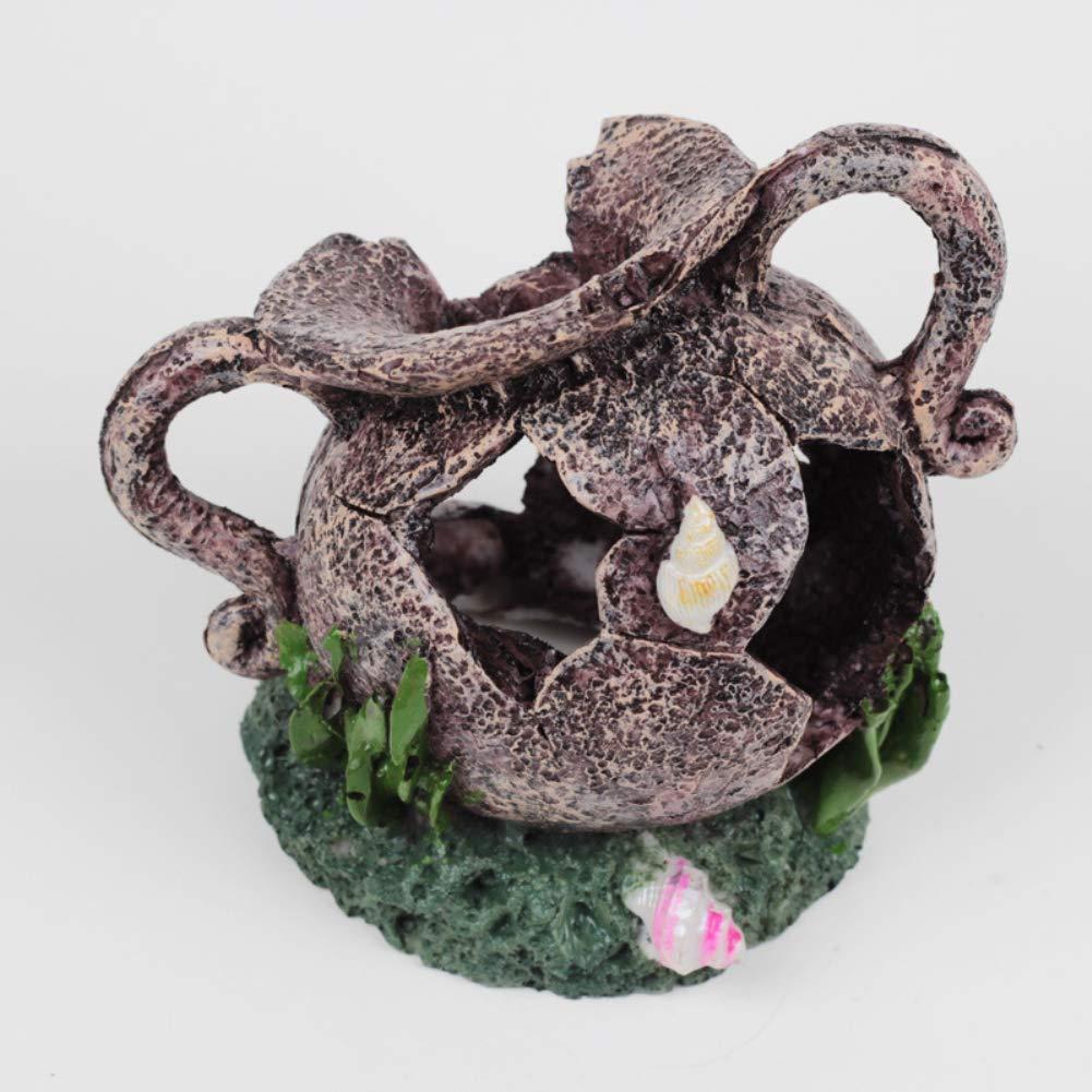 collectsound - Jarrón Decorativo para Acuario, diseño de pecera Rota: Amazon.es: Productos para mascotas