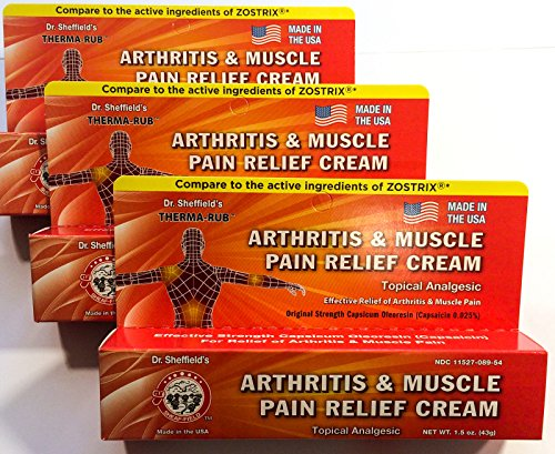 Dr. Sheffield's THERMA-RUB Arthritis and Muscle Pain Relief Cream Rub (3-Pack)