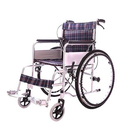 Transporte Adulto Silla De Ruedas Plegable Cuatro Sistema De Frenos Ligero Ancianos Deshabilitados Viajes Portable Super