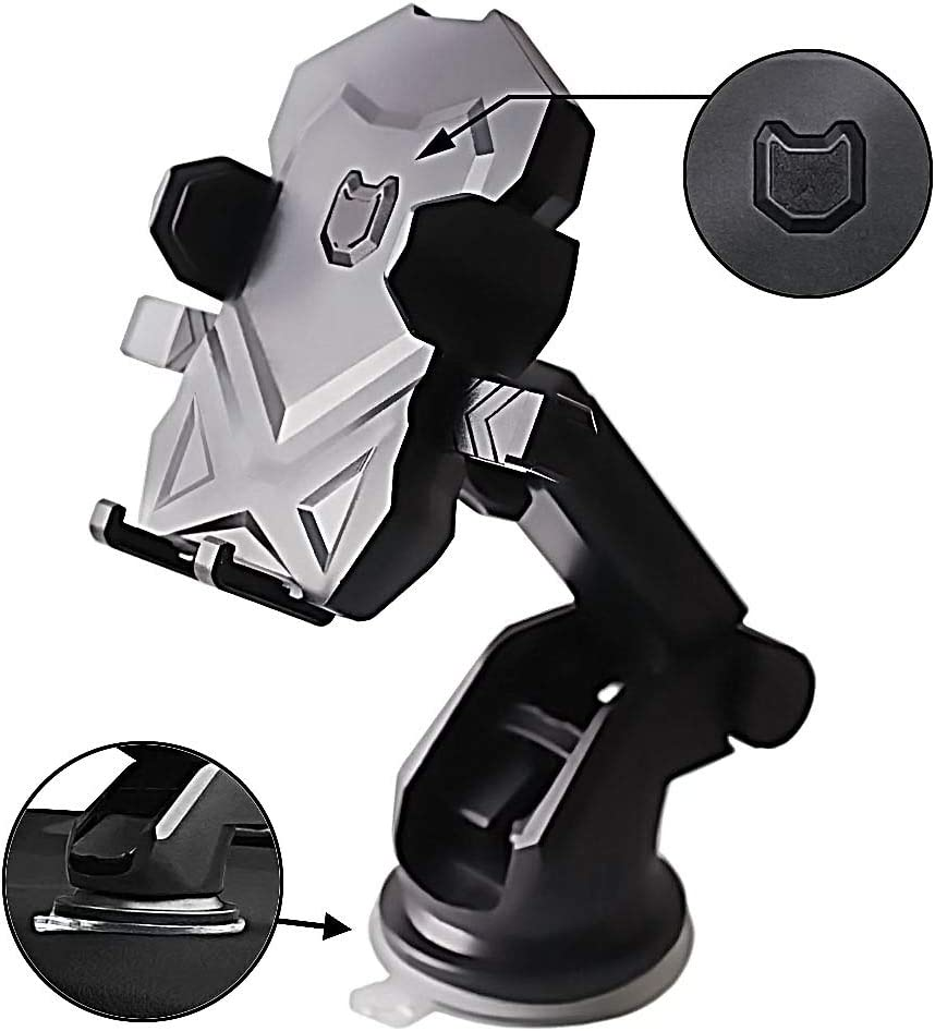 Phone Holder for Car,Universal Long Neck Car Mount Holder Compatible iPhone Xs XS Max XR X 8 8 Plus 7 7 Plus Samsung Galaxy S10 S9 S8 S7 S6 LG Nexus Sony and More(Black)