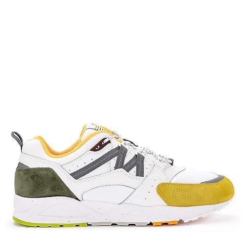 Fusion 0 Sneaker Pelle Karhu In Gialla E Suede 2 Bianco Nylon QeErCBWdxo