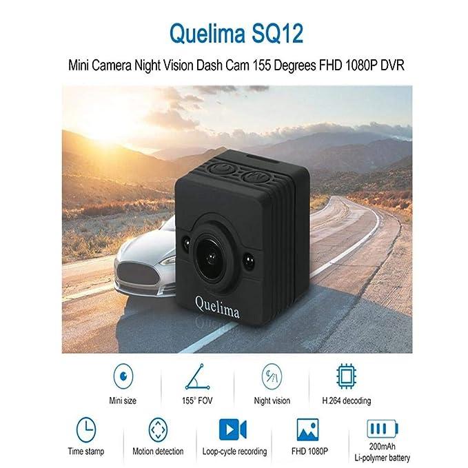 iBelly quelima SQ12 Mini 1080P FHD DVR visión Nocturna Grabación Ciclo-Ciclo Detector de Movimiento: Amazon.es: Electrónica
