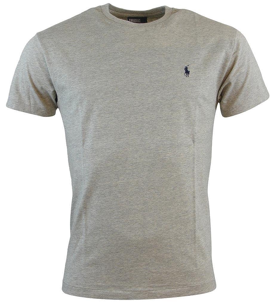 03f585c055ea9 Ralph Lauren Polo Mens Classic Fit Solid Crewneck T-Shirt - M - Gray |  Amazon.com