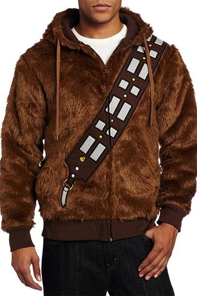 Disfraz Star Wars Chewbacca con capucha marrón, talla europea ...
