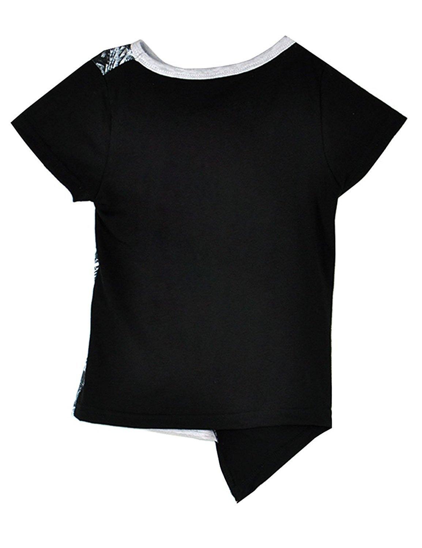 LaLaMa Kids Clothes Spots Harem Pants Casual Boys Outfits Sets Top T-Shirt 2-3Y, Black