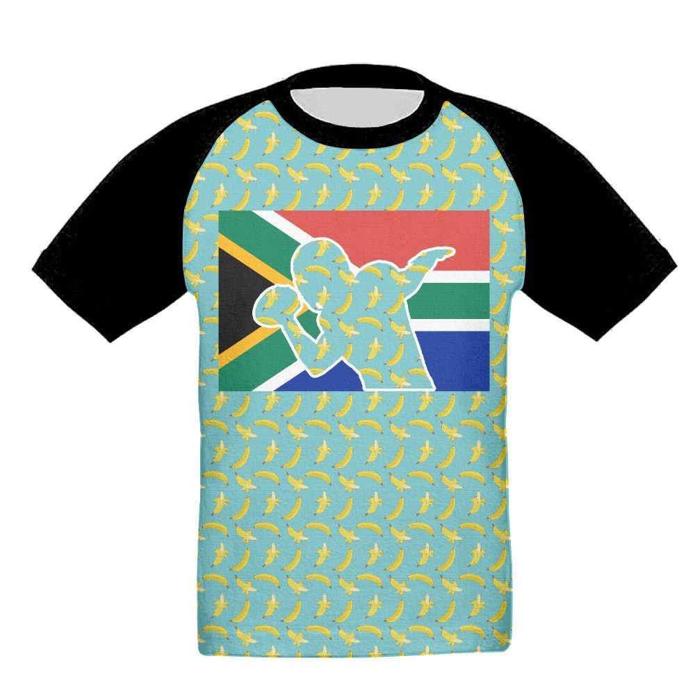 RT756 TEE South African Flag Baby-Babys 3D Print Comfort Short Sleeve T-Shirt