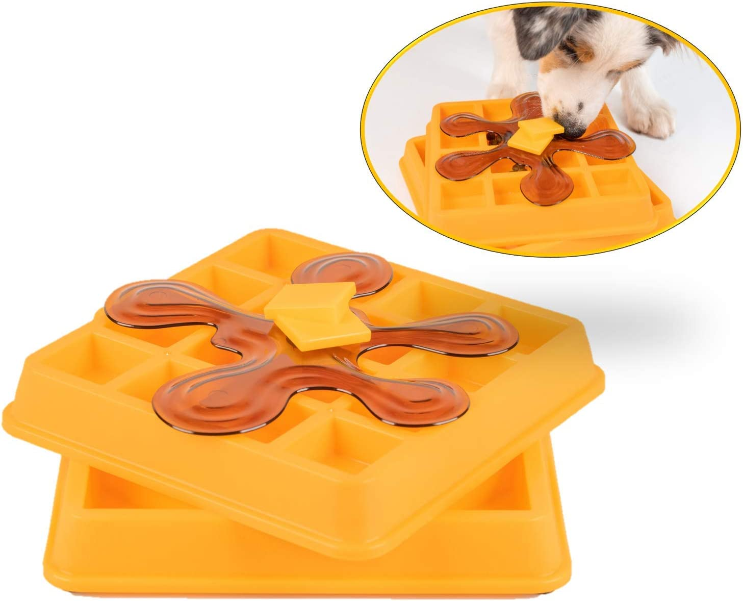OurPets Waffle Interactive Puzzle Game Dog Toys (Dog Puzzle Dog Toy-Great Alternative to Snuffle Mat for Dogs and Slow Feeder Dog Bowls) Dog Puzzle, Cat Puzzle & Interactive Dog Toys for Dog Treats