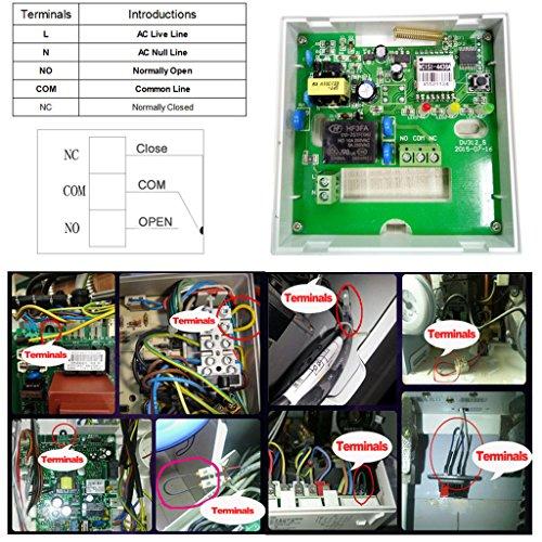 Pantalla táctil inalámbrica con termostato programable beok bot-x306 con receptor para sistema de calefacción de caldera de gas, colgada en la pared, ...