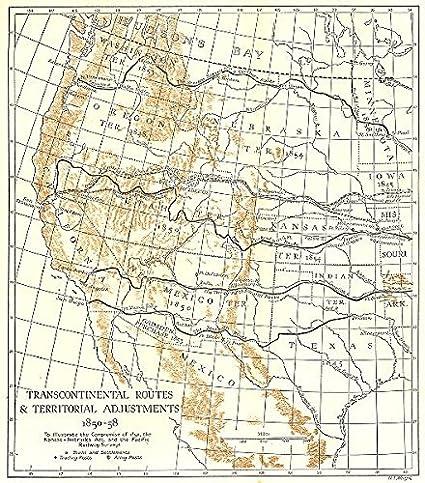 Amazon.com: USA. Transcontinental Routes & Territorial Adjustments ...