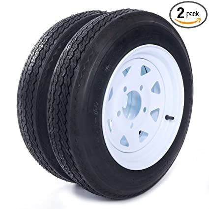 Amazon Com Million Parts Two 12 Trailer Tires Rims 4 8 12 4pr 5lug