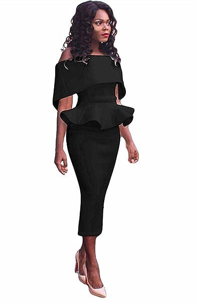 Honestyi Damen Große Größe Büro Dame Formal Business Work Abend Partei Elegantes Mermaid Bleistift-Kleid Cocktailkleider Slim