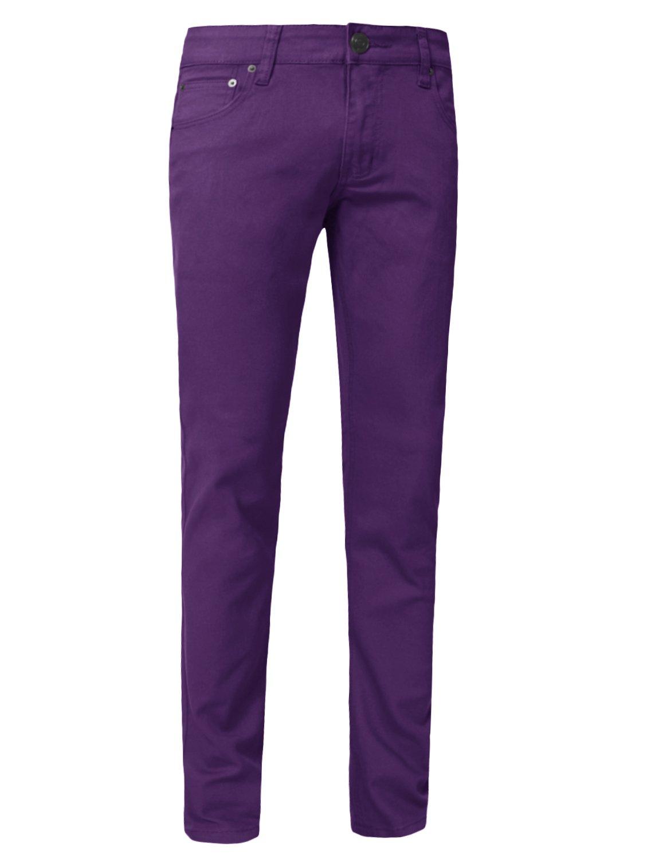 J. LOVNY Mens Lightweight Simple Slim Fit Skinny Jeans Pants 28-40