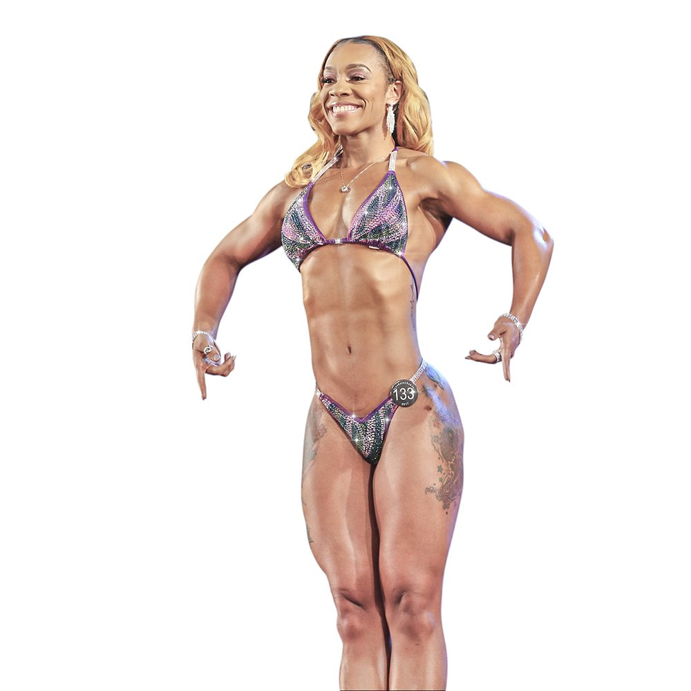 b1d44b513b5 Amazon.com: Purple Figure Competition Suit Physique Bikini With Stunning  Colored Rhinestones Padded Top: Industrial & Scientific
