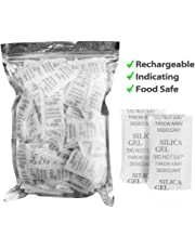 Desiccant Packets, 2g, 160 Packs, Silica Gel Dehumidifier, Safe Moisture Absorber Bulk for Storage Drying