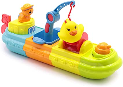 Bath Toy,Pool Toy,Wind up Toy,6 Pack Cochain Speed Boat Toy Set.. Free Shipping