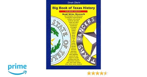Big Book Of Texas History Grades K 7 Dinah Zike