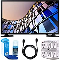 Samsung UN32M4500 32-Inch 720p Smart LED TV (2017 Model) w/ Accessories Bundle Includes, 6ft High Speed HDMI Cable - Black, SurgePro 6-Outlet Surge Adapter w/ Night Light and LED TV Screen Cleaner