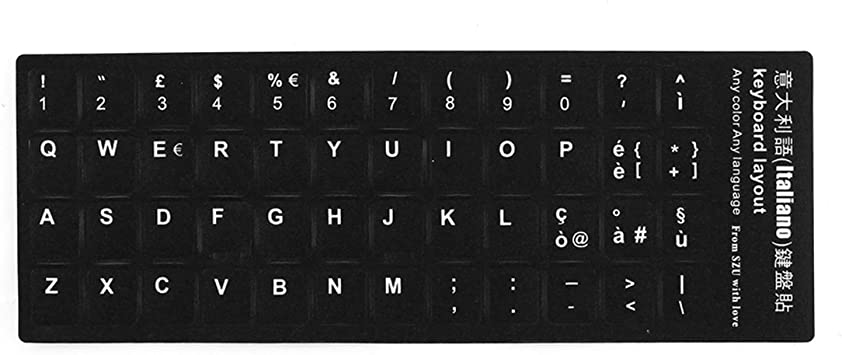 uxcell/® Desktop Laptop Computer Russian Keyboard Decal Protector Large Letters Sticker White