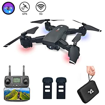 3T6B RC Drone Doble GPS con HD 2K Cámara, FPV Video en Vivo, 5G ...