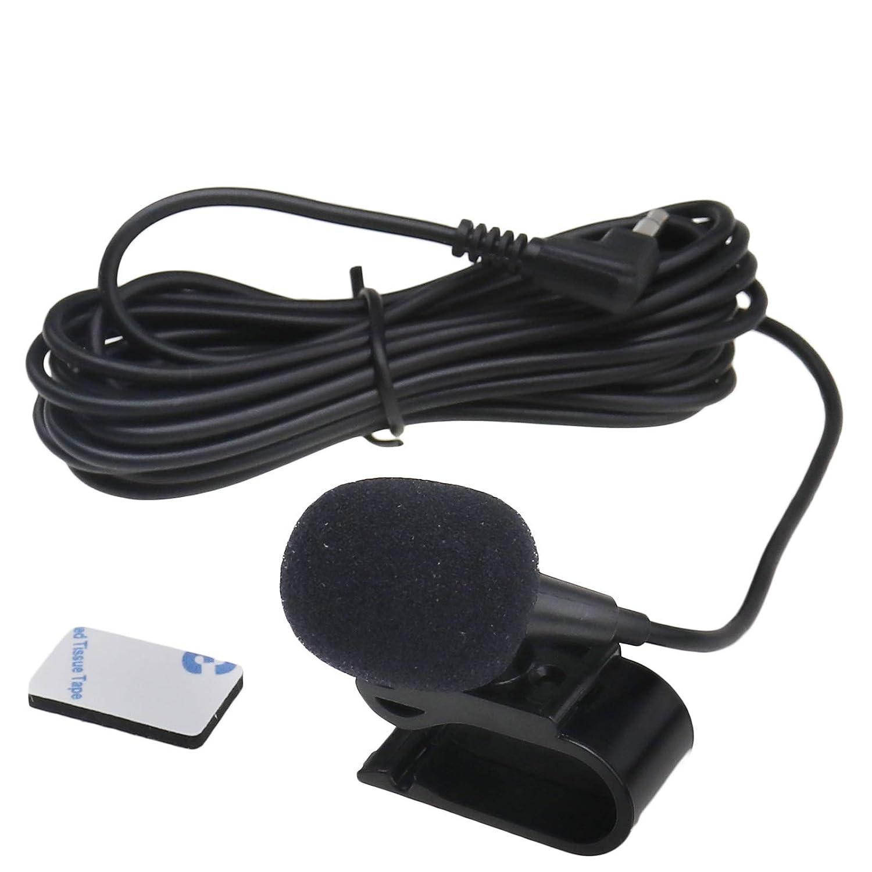 1x 3M 3,5mm Universal Externes Mikrofon Mic F/ür Auto Stereo Ersatz Set