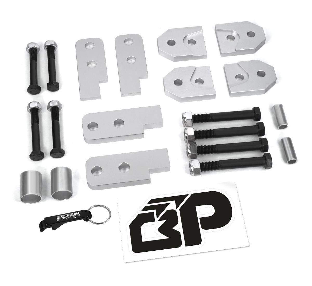 Black Path - Yamaha Rhino 450 660 700 2'' Full Lift Kit SE Sport Silver Billet Kit