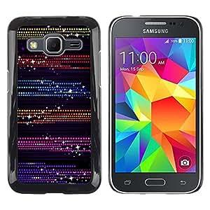 Design for Girls Plastic Cover Case FOR Samsung Galaxy Core Prime Dots Glitter Purple Black OBBA