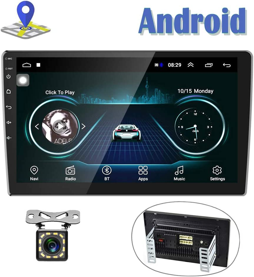 Android Car Radio 10 Inch Touch Screen GPS Sat Navi Stereo Player AMprime 2 Din Bluetooth WiFi FM Receiver Mobile Phone Mirror Link Dual USB + Backup Camera