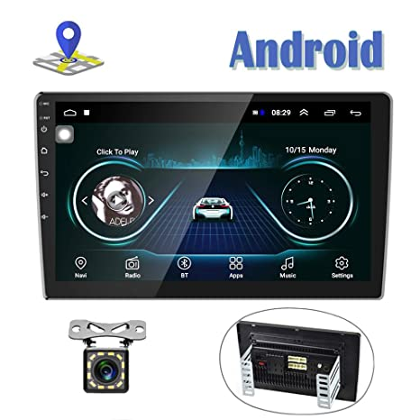 Amazon.com: Android Car Radio 10 Inch Touch Screen GPS Sat ...